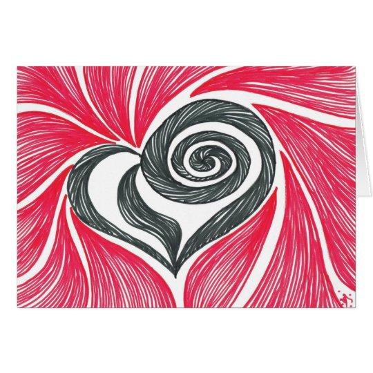 Heart in a Swirl-blank Card