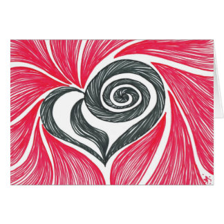 Heart in  a swirl card