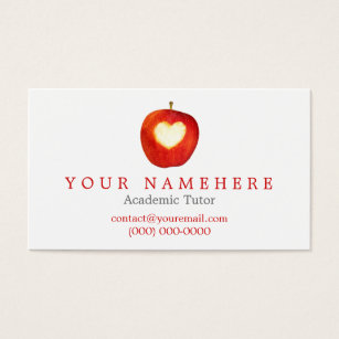 Apple business cards templates zazzle heart in apple business cards cheaphphosting Image collections