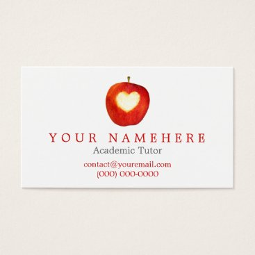 Valentines Themed Heart in Apple Business Cards