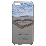 Heart in Beach Sand  Special Date iPhone 5C Cases