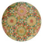 'Heart in Bloom' Islamic geometry plate