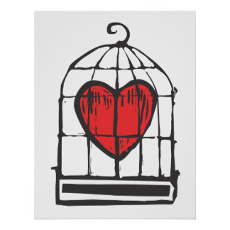 Heart in Cage Poster