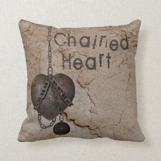 Heart in Chains Throw Pillow