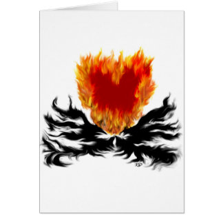 Heart in flames card