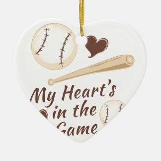Heart In Game Ceramic Ornament