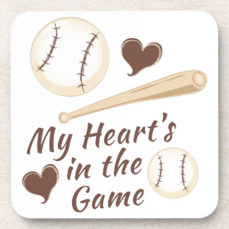 Heart In Game Drink Coaster