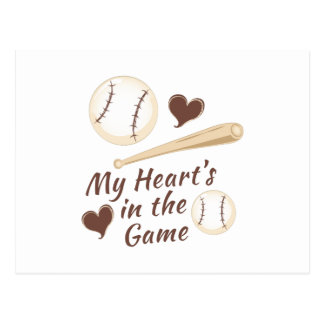 Heart In Game Postcard