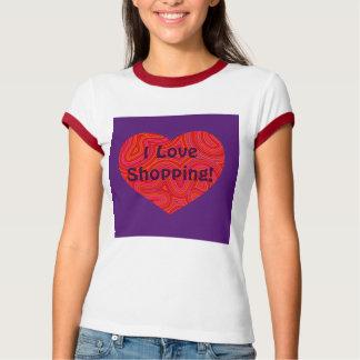 Heart in Groovy Swirls Ringer T-shirt
