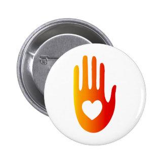 Heart in Hand 2 Inch Round Button