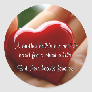 Heart in Hand - Mother's Day Classic Round Sticker