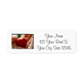 Heart in Hand - Mother's Day Return Address Label