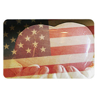 Heart in Hands America Magnet