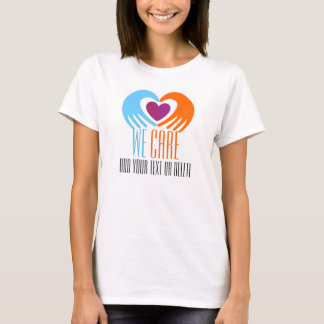 Heart in Hands We Care T-Shirt - SRF
