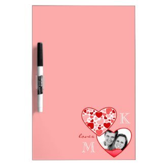 Heart in Heart Customizable Photo Frame Red Pink Dry Erase Whiteboards