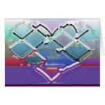 Heart in Liquid Chrome Greeting Card