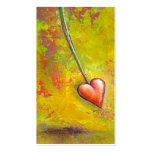 Heart in Motion - fun contemporary painting art Double-Sided Standard Business Cards (Pack Of 100)