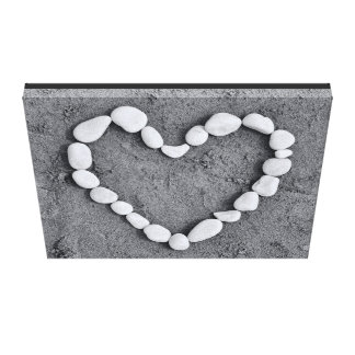 Heart in Pebbles Canvas Canvas Print