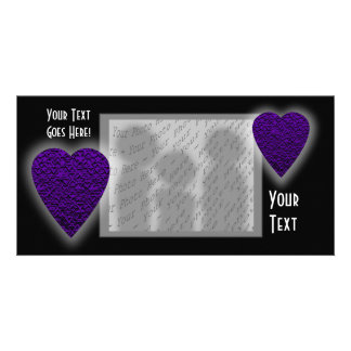 Heart in Purple Colors. Patterned Heart Design. Card
