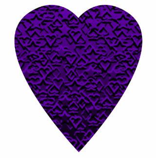 Heart in Purple Colors. Patterned Heart Design. Statuette