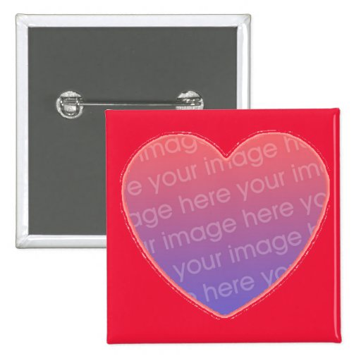 heart in red  with your photo button