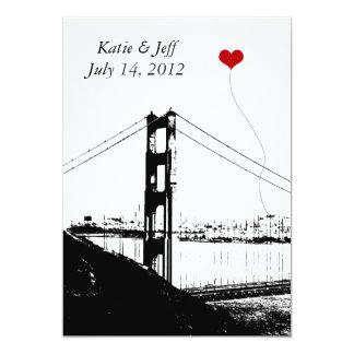 Heart in San Francisco Golden Gate Bridge Card