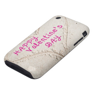 Heart in Sand Happy Valentines Day Tough iPhone 3 Covers