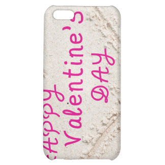 Heart in Sand Happy Valentines Day iPhone 5C Cover