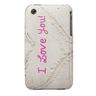 Heart in Sand I Love You Case-Mate iPhone 3 Case