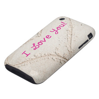 Heart in Sand I Love You Tough iPhone 3 Cover