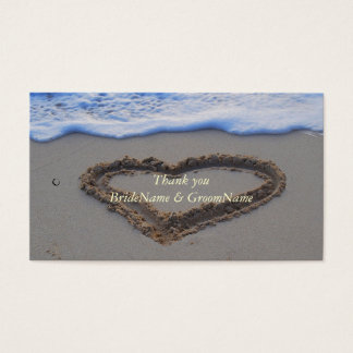 Heart in Sand Thank you Gift Tag