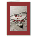 HEART IN SNOW-MISSING U AT CHRISTMAS CARD