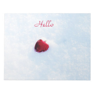 Heart in Snow Notepad