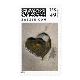 Heart in Stone - Tidal Love Stamps