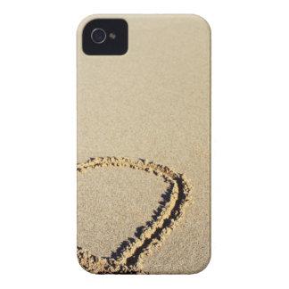 Heart in the Beach iPhone 4 Case