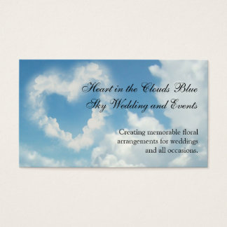 Heart in the Clouds, Blue Sky Romantic Love Business Card