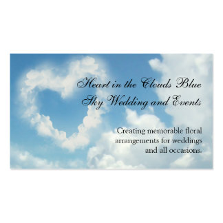 Heart in the Clouds Blue Sky Romantic Love Business Card