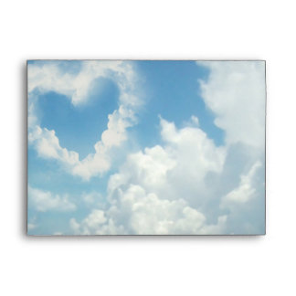 Heart in the Clouds, Blue Sky Romantic Love Envelopes