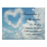 Heart in the Clouds, Blue Sky Romantic Love Print