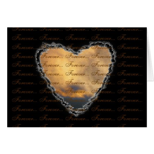 Heart in the Clouds Forever Valentine Love Greeting Card