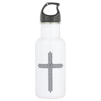 Heart in the Cross Stainless Steel Water Bottle