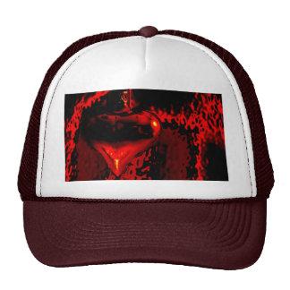 Heart in the fire mesh hat