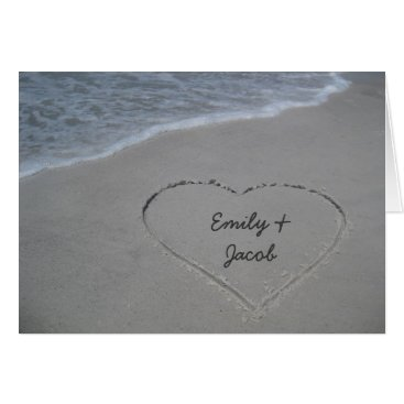 Joyful_Expressions Heart in the Sand Beach Happy Anniversary Card