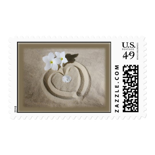 Heart in the Sand - Beach Still Life Postage