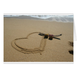Heart in the Sand Greeting Card