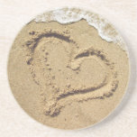 Heart in the Sand coasters
