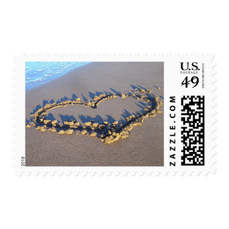 Heart in the Sand Love Stamps