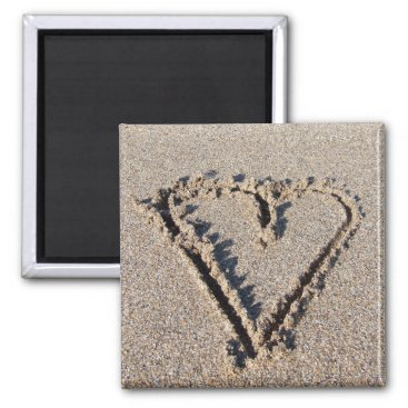 Heart in the Sand Magnet