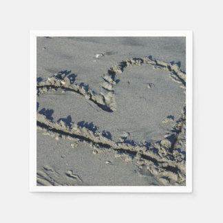 Heart In The Sand Napkin