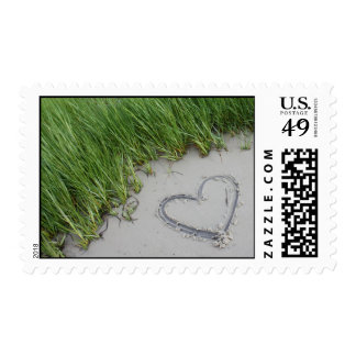 Heart in the Sand Postage